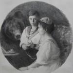 Alix Romanova with son