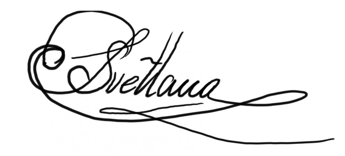 Svetlana Tartakovska signature